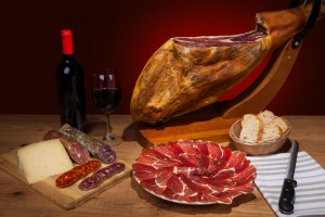 Typical spanish jamon